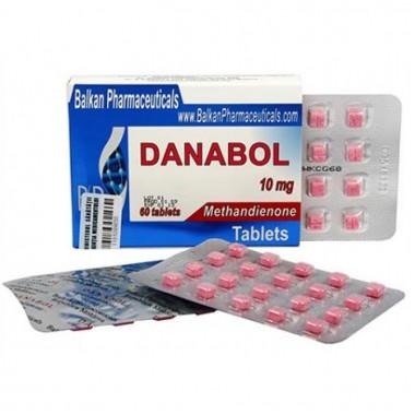 Danabol Данабол Метандиенон Метан 10 мг, 100 таблеток, Balkan Pharmaceuticals в Костанае
